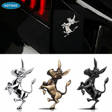 3D Metal Donkey Car Emblem Sticker Chrome Auto Badge Sticker Bumper Decal for Car SUV Truck Motorcycle