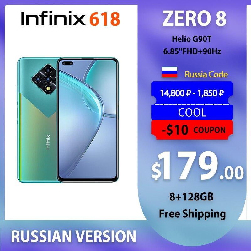 Дешёвый Мобильный Телефон Infinix Zero8 Глобальная Версия 8/ 128 Гб Быстрая Зарядка 33 Ватта Смартфоны На Андроид Не Дорогие