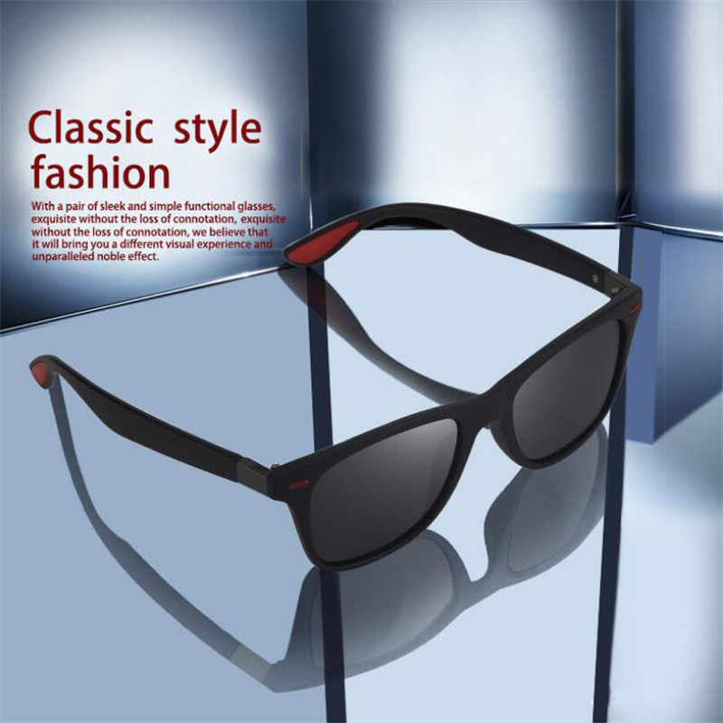 Lantzena Desain Baru Pria Terpolarisasi Kacamata UV400 Ultralight Kacamata Gafas Kacamata Lentes De Sol Wanita Pria Mengemudi Kacamata
