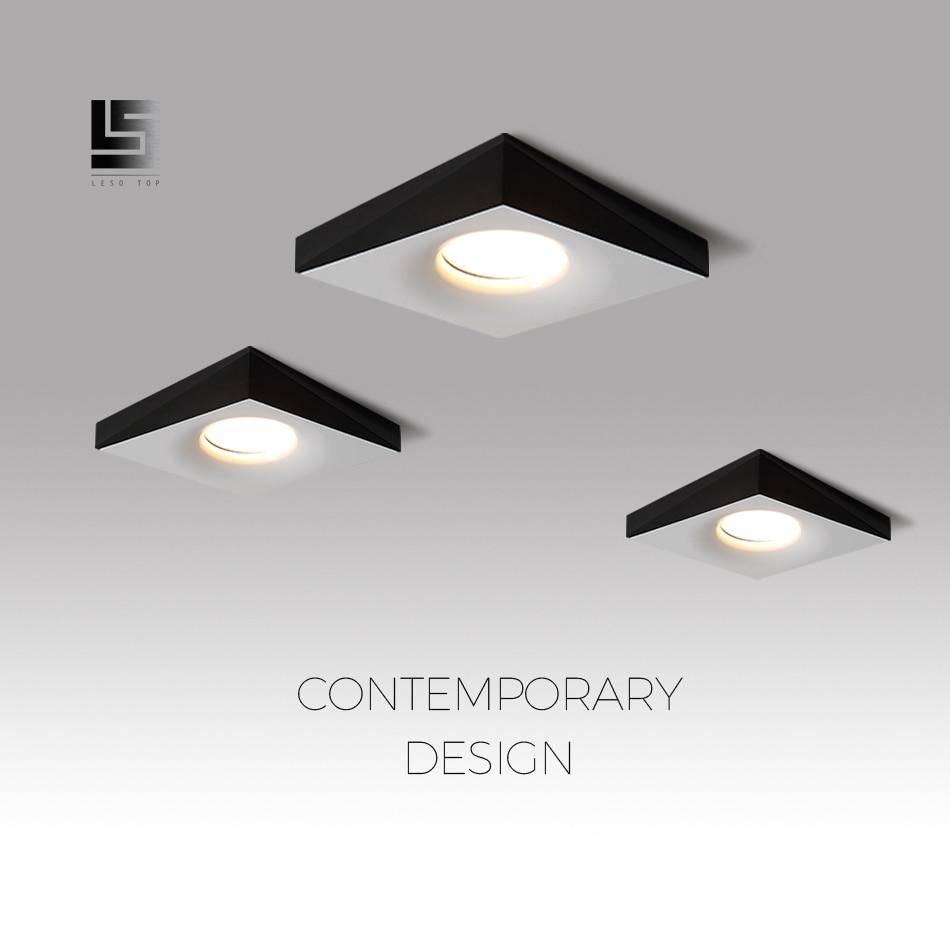 led downlight gu10 black white led lamp changeable led spotlight 220v square recessed led ceiling light