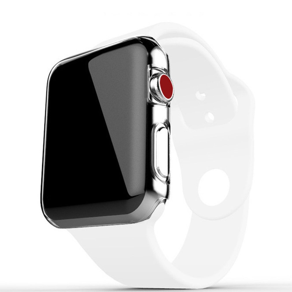 Clear Soft TPU Full Protect Cover For Apple Watch Case 38mm 42mm For IWatch Series 4 3 2 Cover Shell Band New 2019 New Cheap