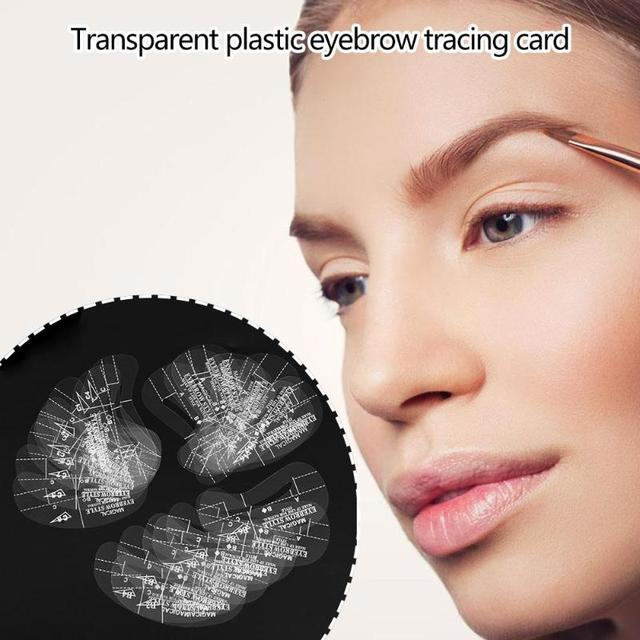 24pcs Reusable Eyebrow Shaping Stencil DIY Eye Brow Drawing Styling Guide Template Card Makeup Beauty Tool 5