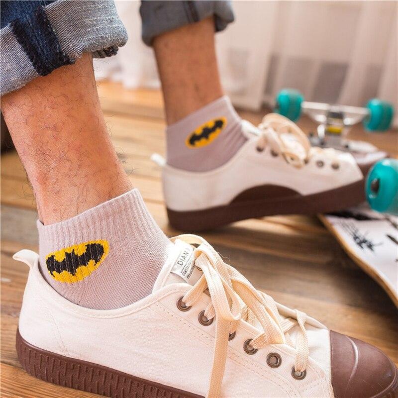 New Men Socks Funny Cotton Male Harajuku Hip Hop Style Fashion Street Skateboard Socks Low Ankle Short Happy Socks High Quality