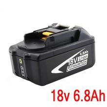 В для Makita Портативный 18V Перезаряжаемые Батарея 6.8AH 6800 мА/ч, литий-ионный аккумулятор Батарея Замена Мощность инструмент Батарея BL1860 BL1830