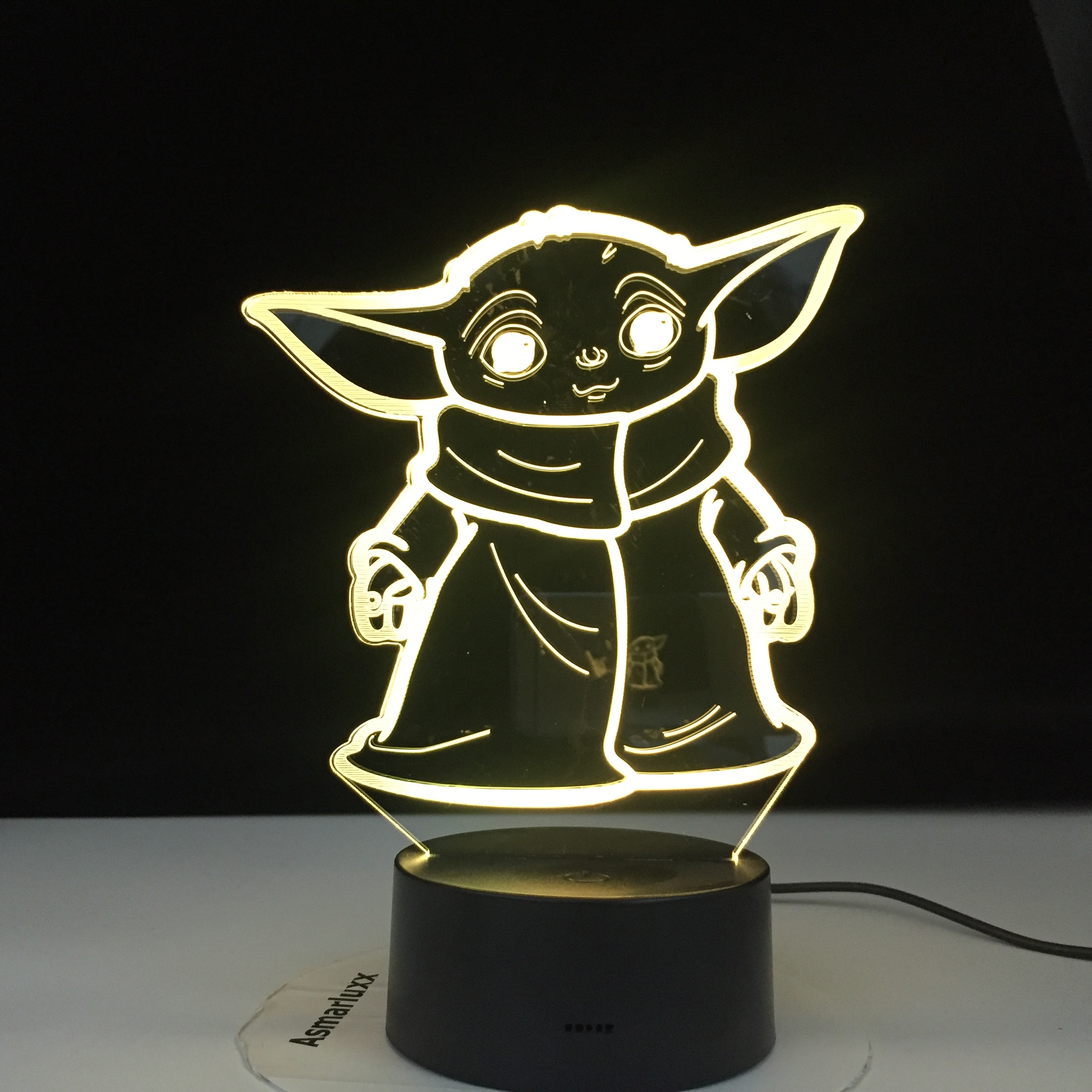 Star Wars Mini Yoda 3d Led Night Light Baby Cartoon Meme Figure Nightlight for Kids Child Bedroom Decor Table Lamp Night Light image