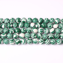 Linxiang natural jewelry Green Malachite loose 4/6/8/10/12 mm suitable for production DIY Bracelet Necklace