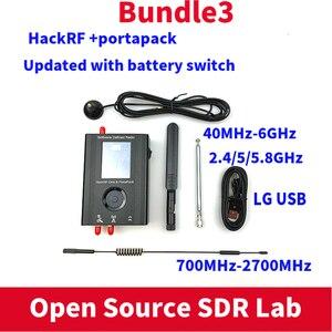 Image 2 - PORTAPACKพร้อมHavocเฟิร์มแวร์กระพริบ + HACKRF ONE 1MHz To 6GHzซอฟต์แวร์SDR De + 1000MAHแบตเตอรี่ + 2.4Touch LCD