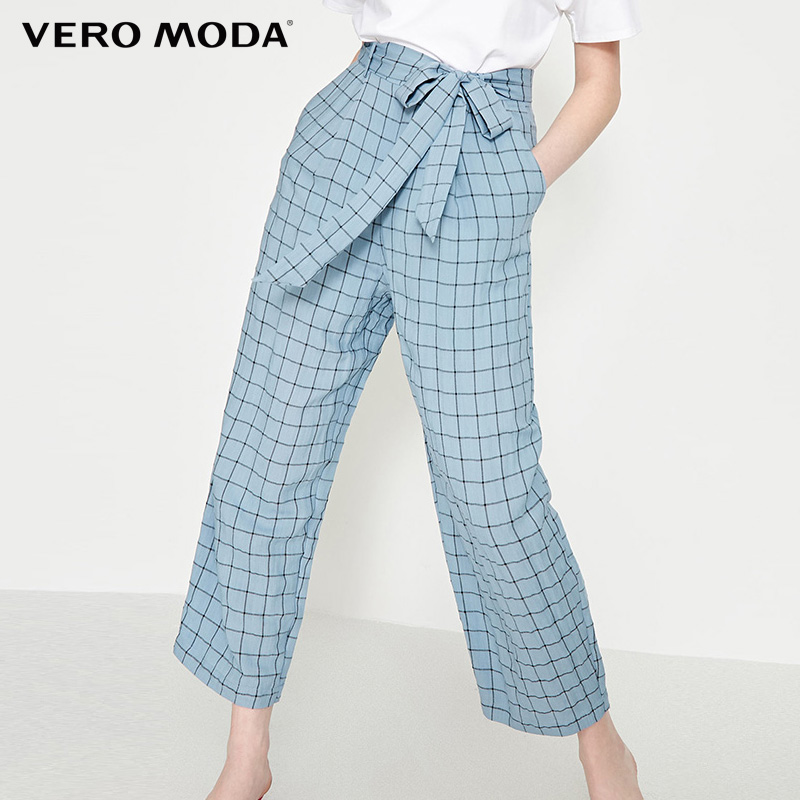 Vero Moda Retro Womens Straight Fit Plaid Pants|3192PL501