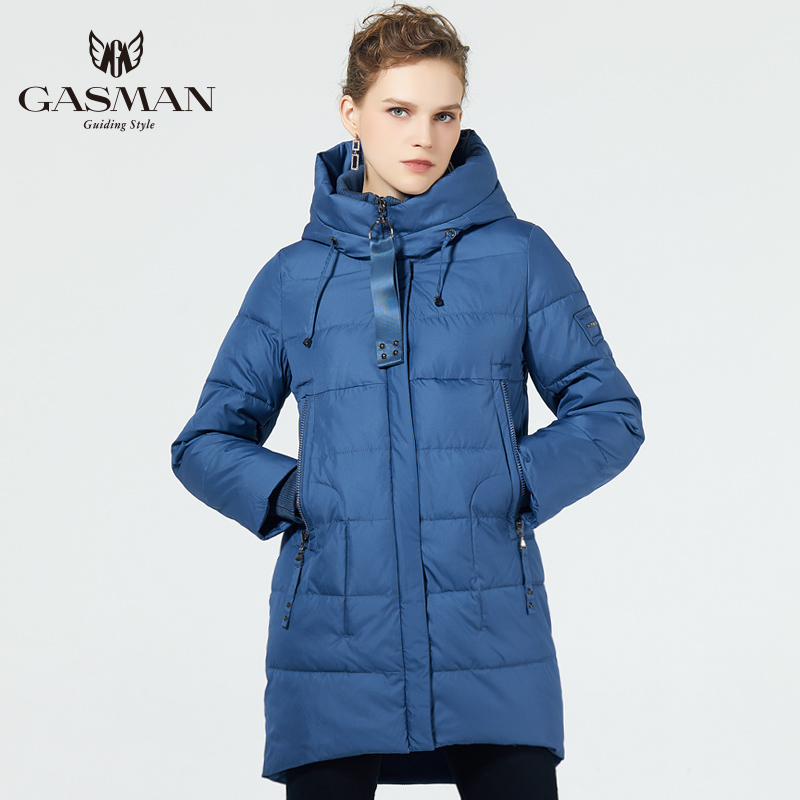GASMAN 2019 Fashionable Coat Jacket Women's Hooded Warm Parkas Bio Fluff Parka Coat Hight Quality Female New Winte Collection