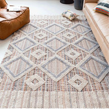 Nordic Moroccan Livingroom Carpets Simple Geometric Ethnic Bedroom Living Room Carpet Bedside Blanket Dining Table Floor Mat(China)