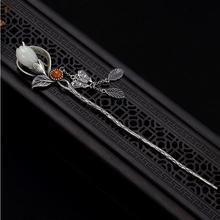 Pendant Magnolia Hairpin Charm Women Silver Jewelry Light Flower Exclusive Chinese-Style