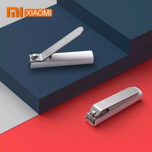 Image 1 - Xiaomi Mijia coupe ongles en acier inoxydable avec couverture anti éclaboussures tondeuse soins de pédicure coupe ongles lime professionnelle Cli