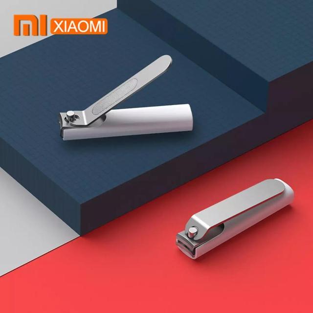 Xiaomi Mijia נירוסטה קוצץ ציפורניים עם אנטי splash כיסוי גוזם פדיקור טיפול מקצועי קוצץ קובץ נייל Cli
