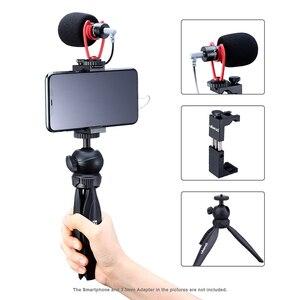 Image 3 - Ulanzi שיא מיקרופון חצובה Vlog ערכת מיני חצובה אנכי ירי טלפון הר ערכת 3.5MM שקע וידאו אודיו מיקרופון