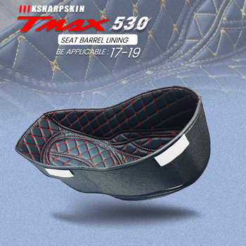 New Motorcycle Accessories PU Rear Trunk Cargo Liner Protector Seat Bucket Pad for YAMAHA TMAX530 2017-2019 tmax 530