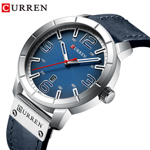 CURREN Sports Leather Watch Luxury Brand Watches Quartz Wristwatch Business Calendar Clock Horloge Heren
