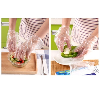 Anti COVID-19 Virus Food Grade Disposable Gloves Film Kitchen Kitchen Catering Thick Transparent Hand Protecter 200pcs 1