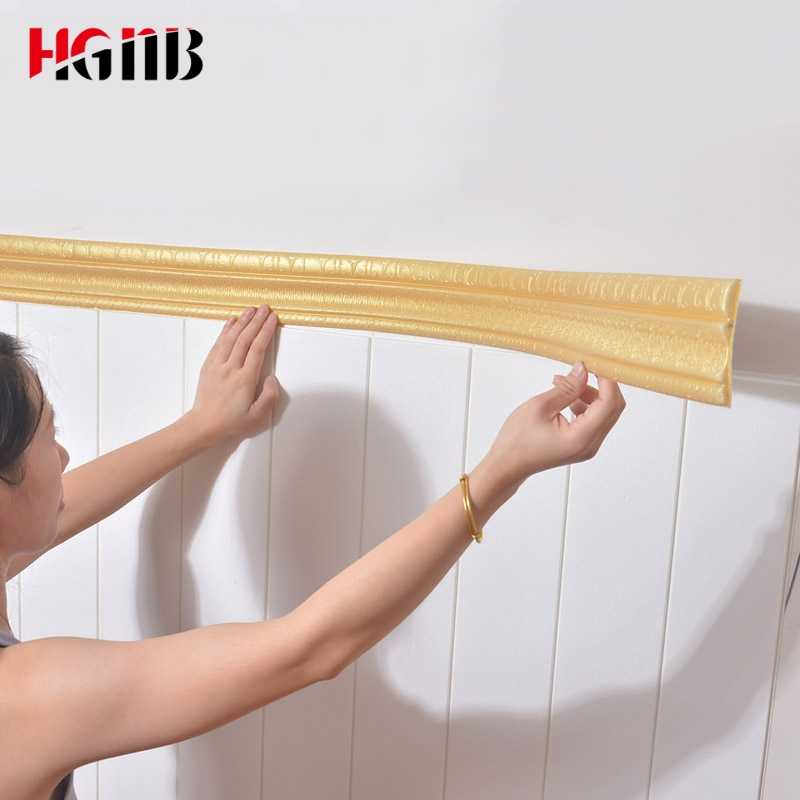Waterproof Border Wallpaper Top Corner Line Wall Edge Strip Wall Waist Line Sticker Tiles Wall Sticker Border 3D Wall Decor