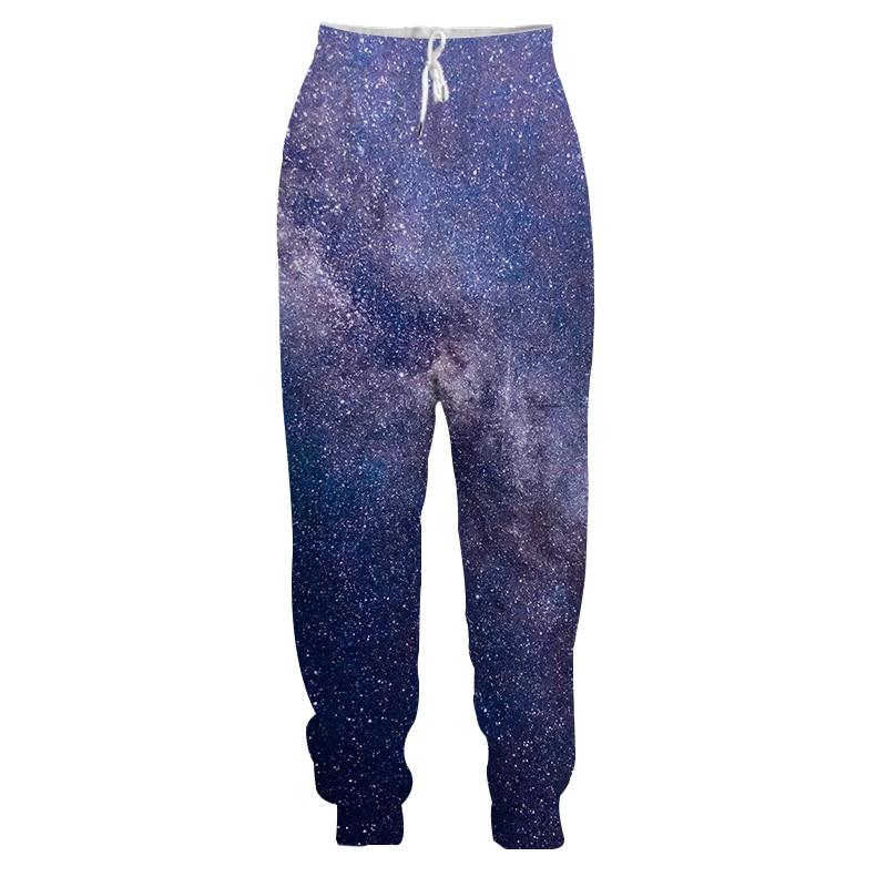 Purple Starry Sky 3D Printed Sweatpants S-5XL Couple Fashion Long Pants Galaxy Pattern Drawstring Leisure Trousers For Men Women