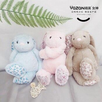 YAZAN40cm kawaii cute stuffed animal plush soft bunny bunny baby doll pink blue baby birthday gift