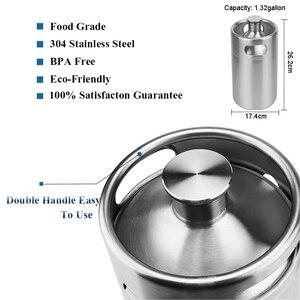 Image 5 - מיני חבית 5l, בלחץ באר חבית מערכת 64oz נירוסטה מיני רוטן חבית מתכוונן בירה ברז ברז פרימיום CO2 ערכת מטען