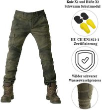 Motorrad hosen männer jeans textil motorrad hosen mit protektoren armee grün S M L XL XXL XXXL
