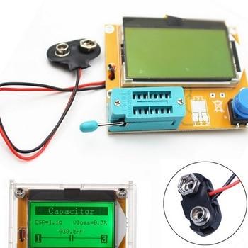 LCR ESR Meter Mega328 Digital  Transistor Tester Diode Triode  Capacitance Resistor MOS/PNP/NPN + Test Clip multifunctional lcd backlight diode inductance capacitance resistance esr meter transistor tester for mos pnp npn l c r testing