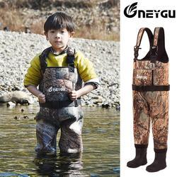 NEYGU 5MM neoprenowy wodoodporny izolowany termiczny brodzik dla dzieci  dzieci w klatce piersiowej z kalosze do łowienia ryb