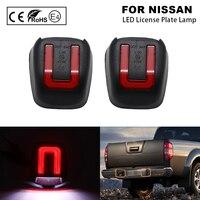 Luz de placa de matrícula LED para Nissan Titan Xterra, luz blanca y roja, 2 uds.