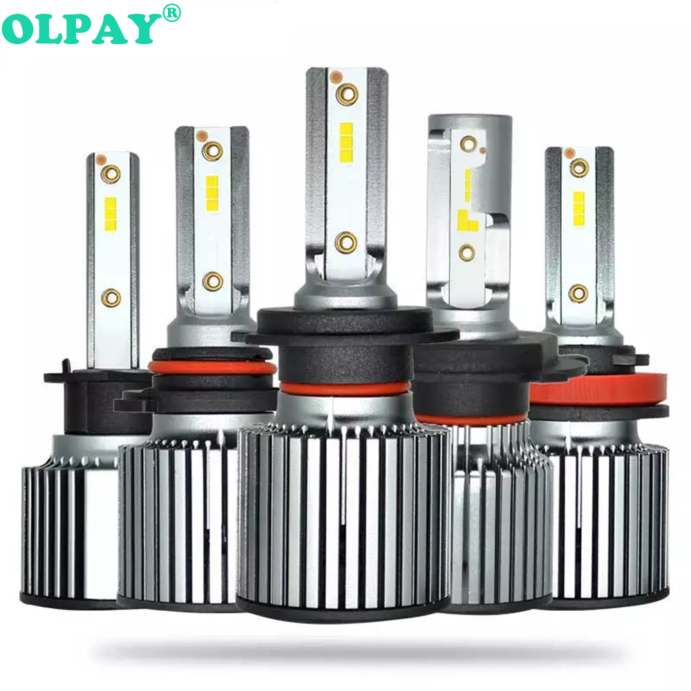 OLPAY 2 Pcs Car <font><b>Headlight</b></font> F32 <font><b>H7</b></font> <font><b>LED</b></font> H4 H1 H3 H8 H9 H11 9005 9006 9007 50W 5000LM <font><b>Philips</b></font> Chip Auto Headlamp 6000K Light Bulb image