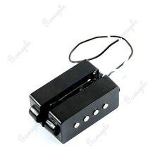 Черный 4 струнный бесшумный набор звукоснимателей для прецизионного P Bass мост Набор звукоснимателей