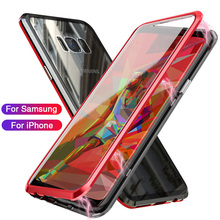 Carcasa metálica de adsorción magnética para Samsung Galaxy S8 S9 S10 Plus S10E Note 8 9 M20 M10 A30 A50 A10 M30 Lite cubierta de vidrio templado