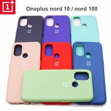 Original oneplus nord n10 caso silicone líquido capa traseira um mais nord n10 nord n100 caso macio à prova de choque capa protetora completa