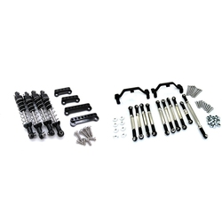 Металлический амортизатор с удлинительным кронштейном для сиденья, черный с металлическим стержнем, черное крепление для рулевой тяги