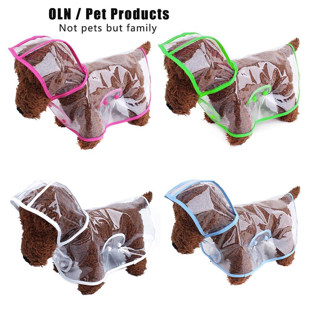 New Arrive Transparent PVC Waterproof Pet Raincoat Pet Clothes Light Clothes Waterproof Small Dog Raincoat With Hood