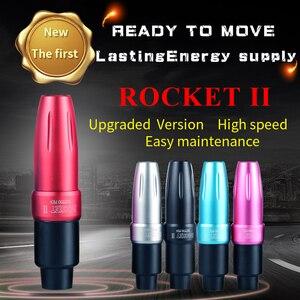 Image 1 - 최신 로켓 II 모터 문신 펜 문신 기계 회전 문신 기계 공간 알루미늄 문신 총 장비 무료 배송