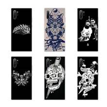 Barber Tattoo schädel lustige Luxus Telefon Fall Für Samsung galaxy J3 J5 J6 J7 2017 2016 2018 Prime Pro Note 8 9 10 Plus(China)