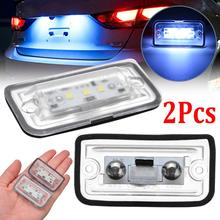 Car license Plate Lights 2pcs LED Number Plate Light 6000K Super Bright License Plate Frame For Mercedes Benz C W203 CLK W209 SL