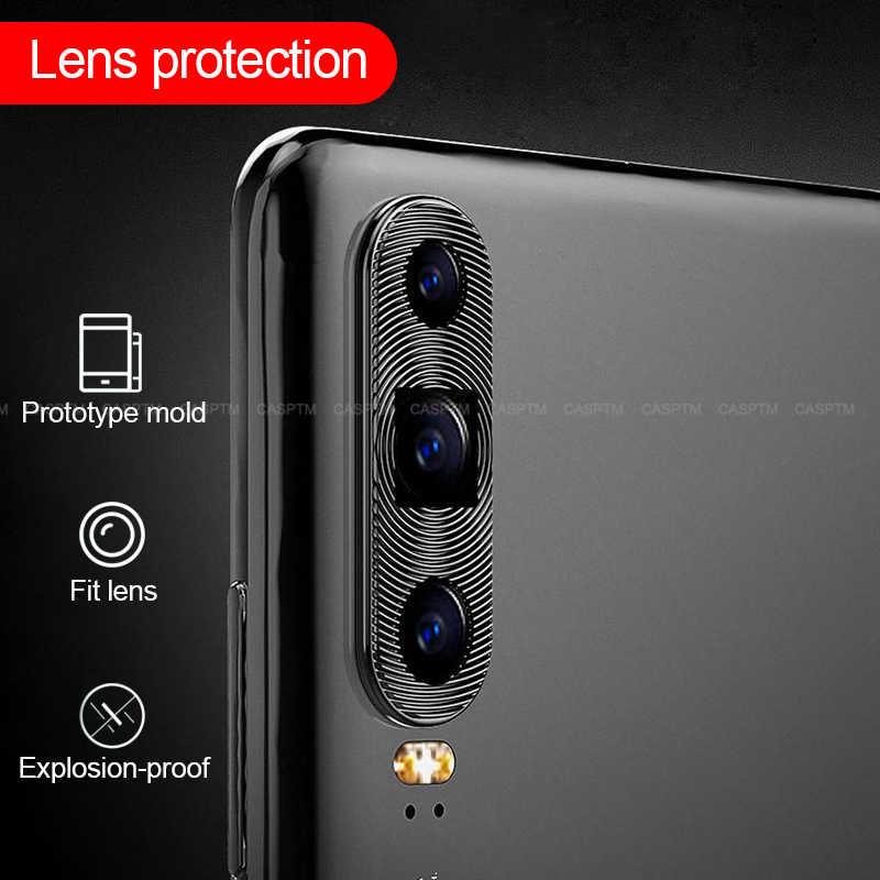 Lente da Câmera Traseira traseira de Metal Círculo Guarda Protector Case For Huawei P30 P30pro P30 Pro Lite Tampa Da Câmera Anel de Proteção p30lite