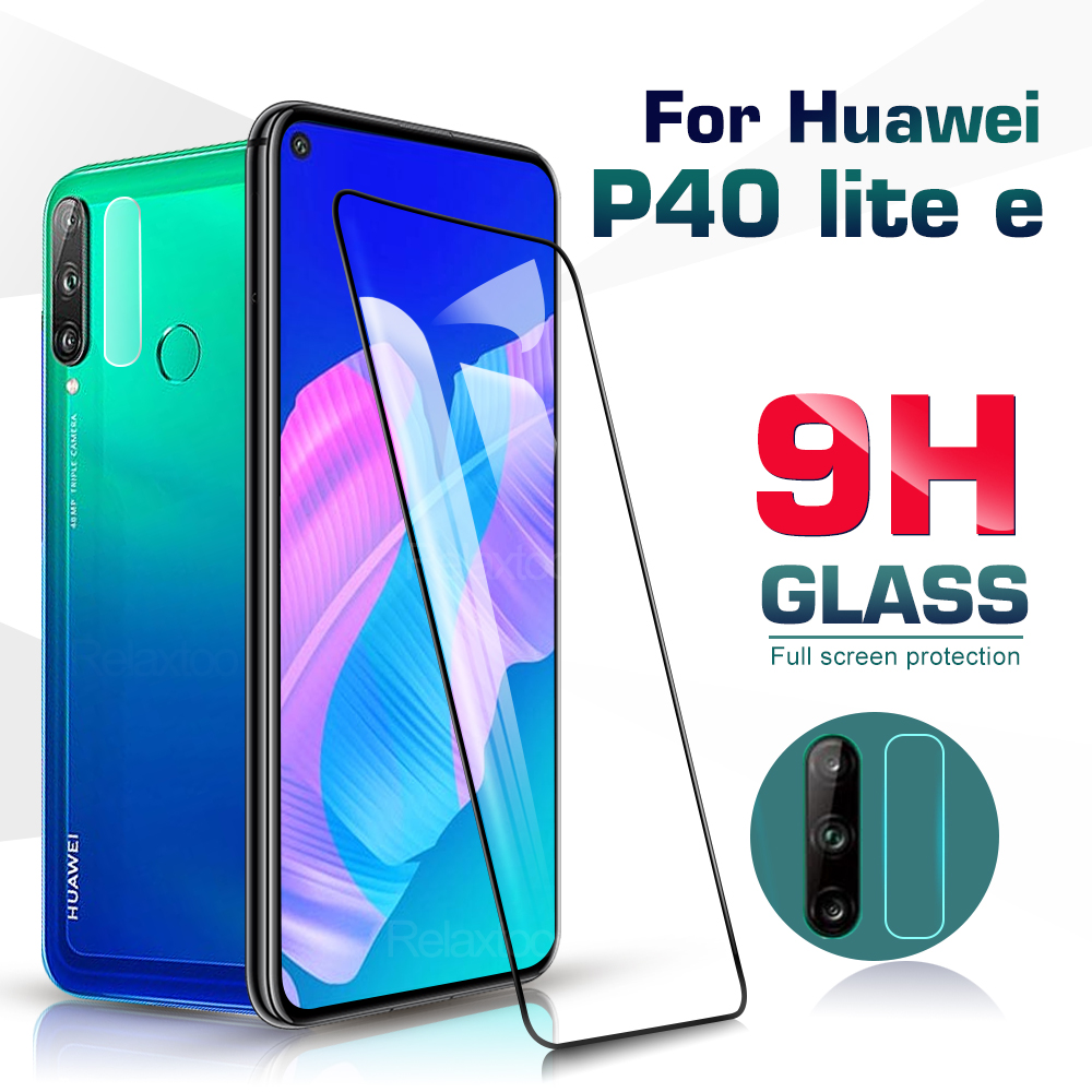 For Huawei P40 Lite E Glass 2 In 1 Camera Lens Protective Glass For Huawei P 40 Lite E P40 Light P40lite E Screen Protector Film