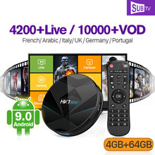 Italy UK Canada France IPTV French Arabic HK1 MINI+ Android 9.0 4G+64G BT Dual-Band WIFI IPTV France Italia Canada SUBTV IP TV все цены