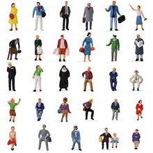 30 sztuk/60 sztuk HO skala siedzących stojących ludzi 1:87 figurki Model pasażerski zestaw do budowania P8721