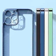 Iphone, carcasa cuadrado, suave, para iphone 12, 11 pro max, mini, x, xr, xs, 7, 8 plus, se, 2020 telefone funda transparente caso