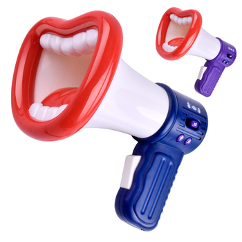 Funny Mouth Shape Voice Changer Horn Toy Novelty Loudspeaker Gadget Gag Jokes Voice Change Toys for Kids Gift фото