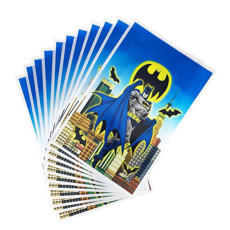 20pcs Batman Theme Birthday Party Decorations Kids Plastic Loot Bag Gift Bag Party Supplies Party Favors 25x16cm