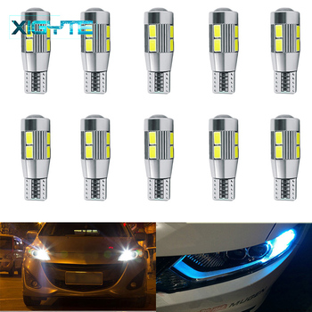 10pcs T10 10 SMD 5630 LED Projector Lens Auto Clearance Lamp W5W 501 5730 LED Car Marker Lamp Parkin
