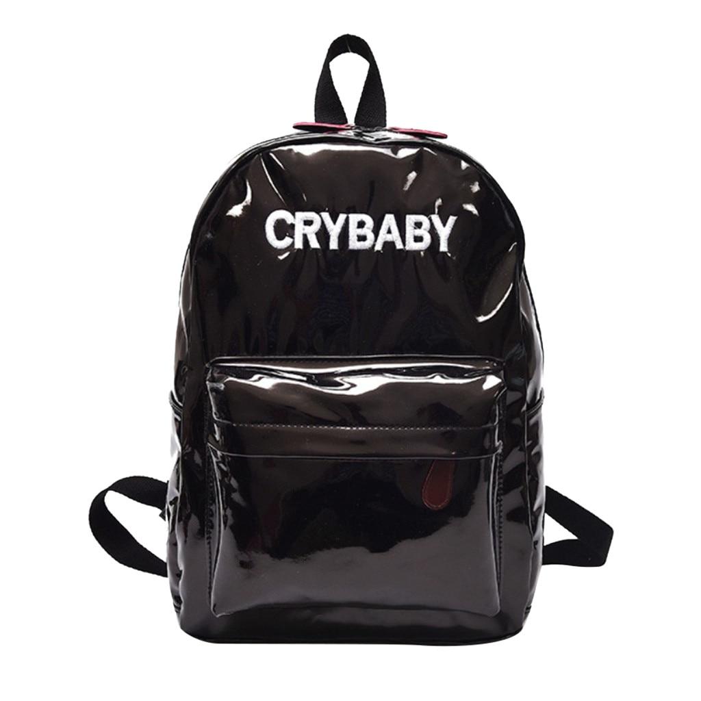 Maison Fabre sac à dos femmes mode cuir grande capacité holographique école dame effet Laser Flash 2019 nouveau Bookbag A40 #