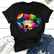 Женские туфли в стиле «готик-женская футболка с цветочным принтом, женская уличная эстетическое в готическом стиле, Женские футболки из хло...