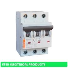 цена на MCB EKM1-63 3P AC C type 400V~ 50HZ/60HZ  Mini Circuit breaker 10A 16A 20A 25A 32A 40A 50A 63A