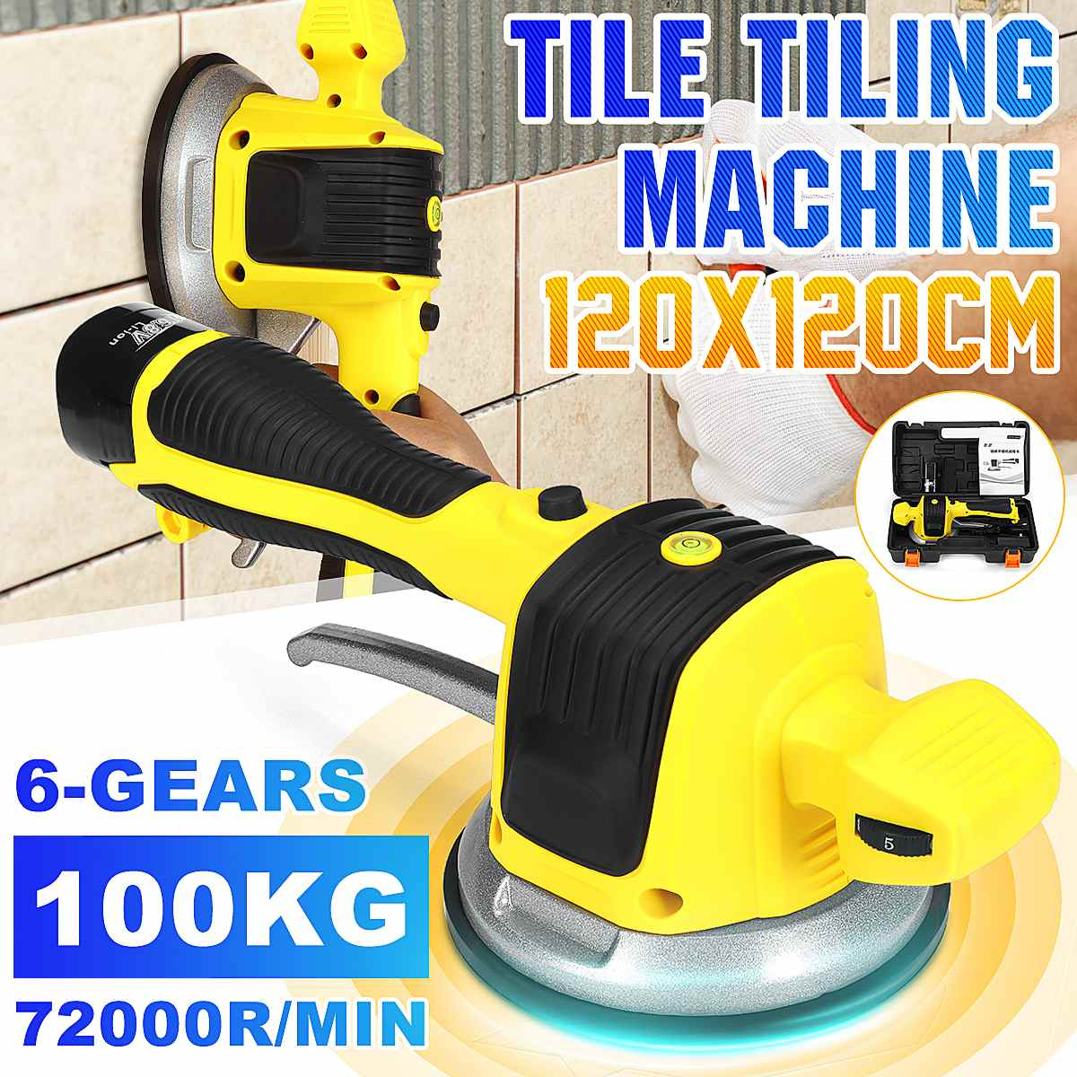 Tile-Leveling-Machine Vibration Lithium-Battery Professional Portable 72000r/Min Floor